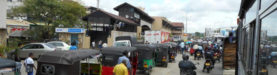 Service area in  Sri Lanka – street food