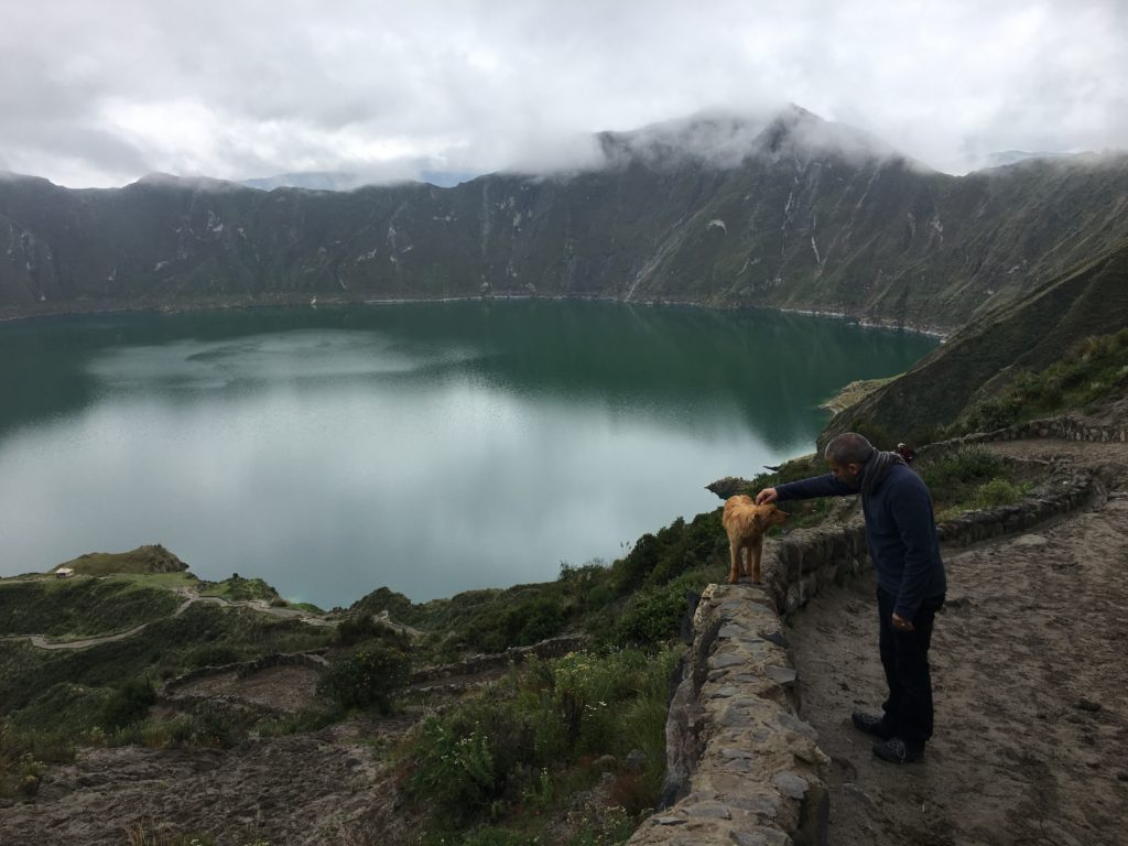 quilotoa with friends