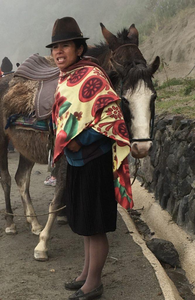 woman quilotoa