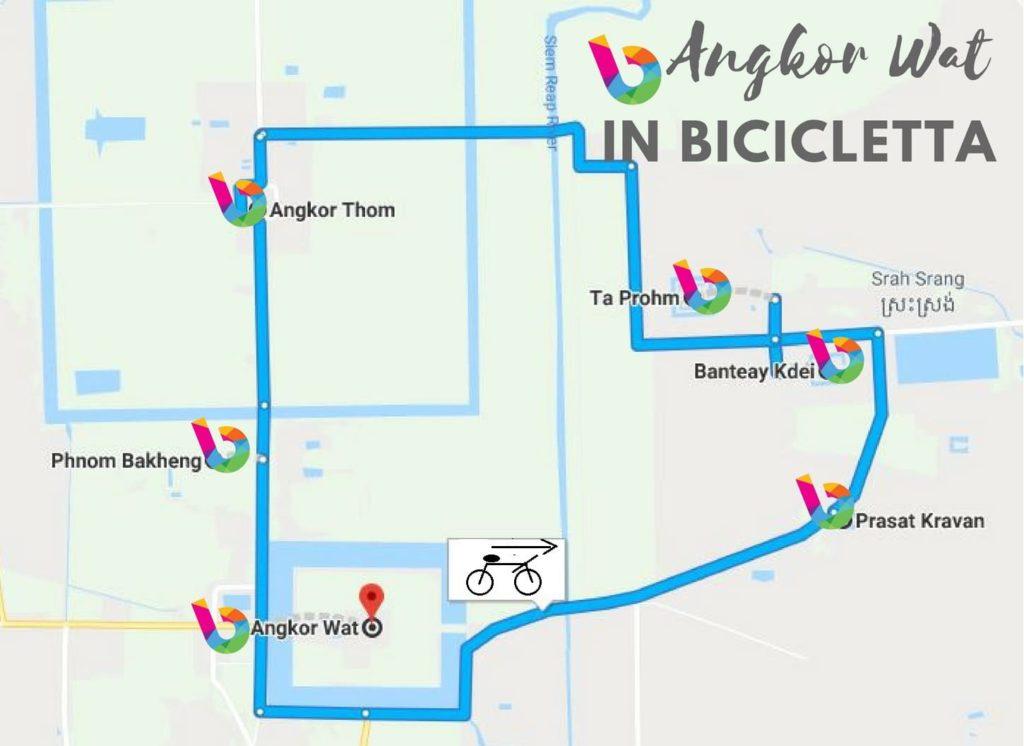 angkor wat in bicicletta